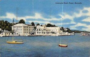 Inverurie Hotel Paget Bermuda 1953 light postal marking on card