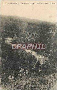 Old Post Card the Chambon sur Lignon (Haute Loire) Gorges of Lignon has Beaujeu