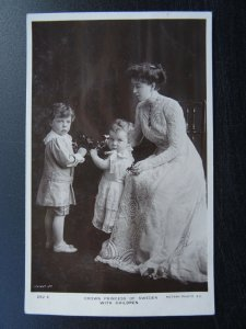Swedish Royalty CROWN PRINCESS OD SWEDEN WITH CHILDREN c1908 RP Postcard