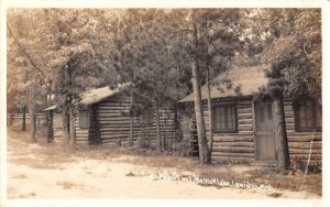 Lewiston Michigan Little Wolf Lake Minsel's Resort Real Photo Postcard JF685183