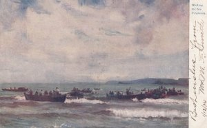 Fishermen waiting for the Pilchards , 1904 ; TUCK