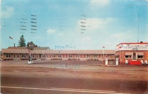 Delhi Ontario~Maple Leaf Motel~Esso Gas Station Pumps~Office~1959