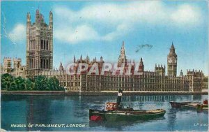 Modern Postcard Houses of Parliament London