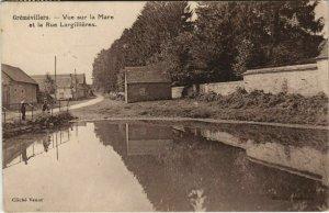 CPA GremeVILLERS - Vue sur La Mare et la Rue Largillieres (131123)