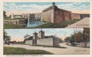 Florida St Augustine Fort Marion and Old City Gates Curteich
