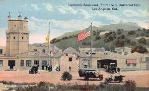 Laemmle Blvd., Entrance to Universal City, Los Angeles, Early Postcard, Unused