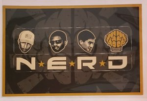 Vintage Advertising Card: NERD-In search Of release announcement promo-virgin