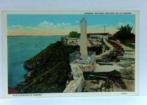 Havana Cuba San Carlos De La Cabana Fortress Cannons Vintage Postcard
