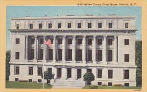 North Carolina Raleigh Wake County Court House Curteich