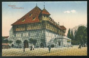 Germany Konstanz Konziliumsgebaude Vintage Tinted postcard