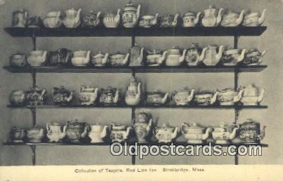 Collection Of Teapots, Red Lion Inn, Stockbridge, Massachusetts, MA USA Hotel...