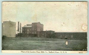 Stafford Kansas~Larabee Flour Mills Plant~Empress Silo~Grain Elevator~1908 ZIM