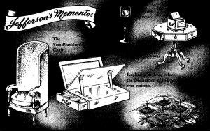Virginia Charlottesville Monticello Jefferson's Mementos Filing Table & ...