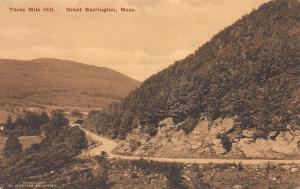 Three Mile Hill, Great Barrington, Massachusetts, Early Postcard, Unused