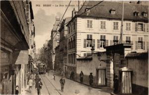 CPA BREST - La Rue de Siam - La Prefecture maritime (384201)