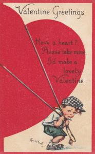 VALENTINE´S DAY : Artist TWELVETREES , Boy drags a giant Heart , 00-10s
