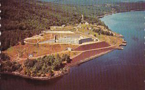 Maine Bucksport Air View Of Historic Fort Knox And The Penobscot River