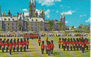 Canada Changing The Guard At Parliament Hill