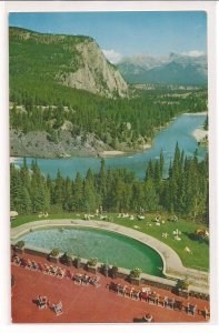 Banff Springs Hotel Pool and Bow Valley, Banff National Park, Alberta !
