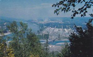 Overlooking the scenic town of Quesnel, British Columbia, Canada, 40-60s