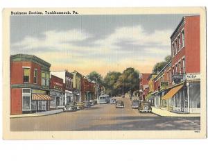 Business Section Tunkhannock Pennsylvania Mailed 1954