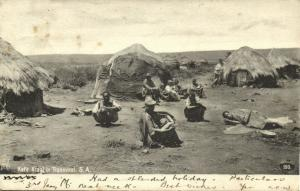 south africa, TRANSVAAL, Native Kafir Kraal (1906) Cape of Good Hope Postcard