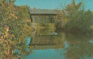 Covered Bridge Tunbridge Old Covered Wood Bridge Known As The Martin Bridge I...