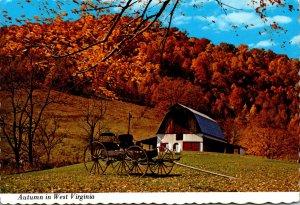 West Virginia Autumn Scene With Antique Buggy