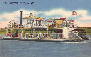 Memphis Tennessee view of Memphis Queen II sternwheeler antique pc ZA440543