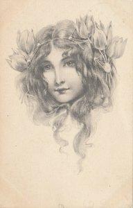 M.M. VIENNE : Female Head Portrait (Art Nouveau) , PU-1903 ; #7
