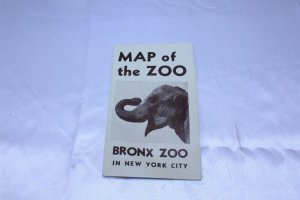 Ca 1940's-50's Map of the Bronx Zoo N.Y. Pamphlet with Map