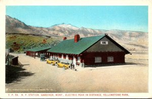 Yellowstone National Park Montana Gardiner Northern Pacific Railway Station C...