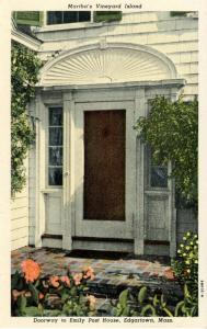 MA - Martha's Vineyard Island. Edgartown. Doorway to Emily Post Home