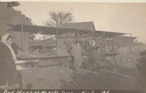 RP; WAPELLO, Iowa, 1911; Bud Mars with Biplane