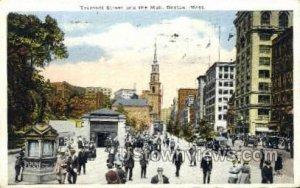 Tremont St. & Mall - Boston, Massachusetts MA