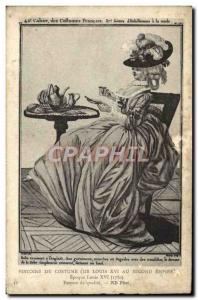 Old Postcard History of Costume Epoque Louis XI Quality Woman
