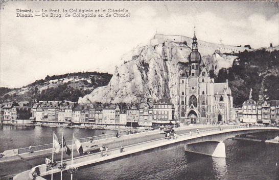 Belgium Dinant Le Pont la Collegiale et la Citadelle