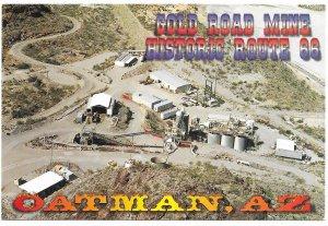US Arizona.  Oatman - Gold Road Mine, Route 66.  Mint Card.