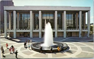 postcard Lincoln Center for the Performing Arts - exterior view with fountain