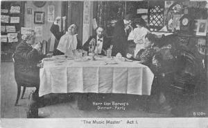 Music Master Play Herr Von Barwigs Dinner Party Antique Postcard J45870