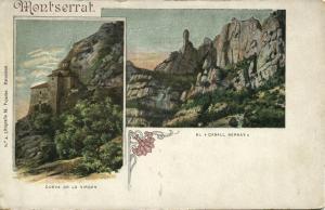 spain, MONTSERRAT, Cueva de la Virgen, El Caball Bernat (1899)