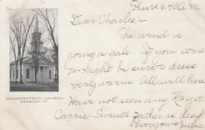 NEWBURY , Vermont, 1908 ; Congregational Church
