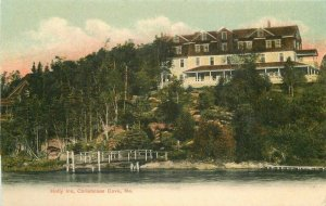 Christmass Cove Maine Holly Inn Postcard Morris #90110 undivided 21-6566
