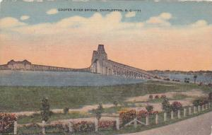 General view of Cooper River Bridge, Charleston, South Carolina, 30-40s
