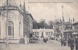 BRUSSELS, Belgium, 1910's; Exposition de Bruxelles 1910, Palais Des Travaux F...