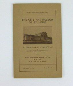 1909 Henry Golden Dearth Art Exhibit Brochure City Art Museum St Louis MO Oil