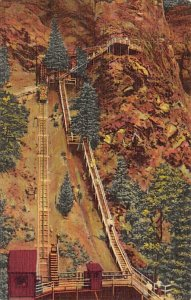 Tennessee Train Postcard Eagle Nest Observation Point, Incline Railway Seven ...