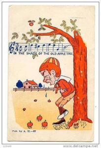 Boy Under apple tree Stomach Ache - Song in the shade of the old apple tree, ...