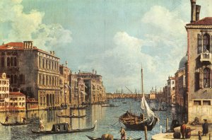 Giant Size Italy Art Postcard Venice, Veduta del Canal Grande by Canaletto OS225