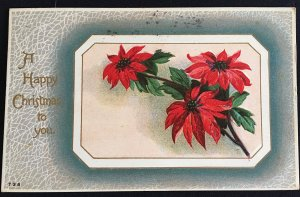 Vintage 1923 embossed Christmas postcard greeting card